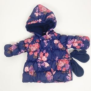 R 1881 by S. Rothschild Girls Hooded Floral Jacket